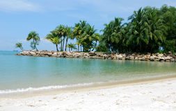 Praia em Sentosa Imagem de Stock Royalty Free