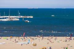 Praia em Sopot Fotos de Stock Royalty Free