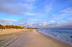 Praia em Sousse, Tunísia Fotografia de Stock Royalty Free