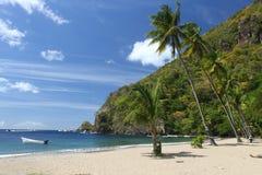 Praia em St Lucia imagens de stock