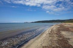 Praia em Talamone Foto de Stock Royalty Free