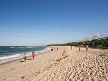 Praia em Tanzânia imagens de stock