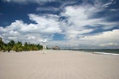 Praia em Tela Foto de Stock