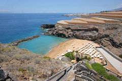 Praia em Tenerife foto de stock