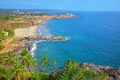 Praia em Thiruvananthapuram imagem de stock