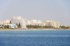 Praia em Tunísia Foto de Stock Royalty Free