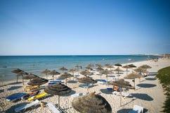 Praia em Tunísia Imagem de Stock Royalty Free