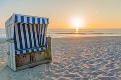 Praia em uma ilha do Mar do Norte fotos de stock royalty free