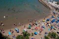 Praia em uma tarde agradável do verão Fotos de Stock Royalty Free