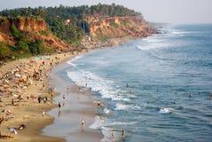 A praia em Varkala Imagens de Stock