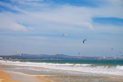 Praia em Vietname Phan Thiet fotografia de stock