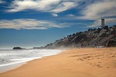 Praia em Vina del Mar, o Chile Imagem de Stock
