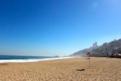 Praia em Vina del Mar, o Chile imagens de stock