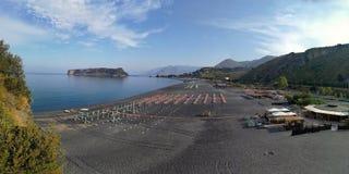 Praia en sto - överblick av den Fiuzzi stranden Arkivfoto