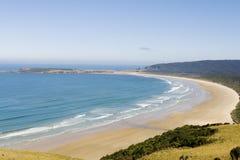 Praia enorme na costa sul nova de Zealands Imagem de Stock