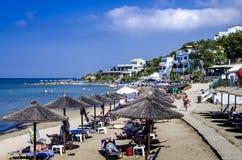 Praia ensolarada Imagem de Stock Royalty Free
