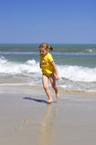 Praia ensolarada Fotografia de Stock