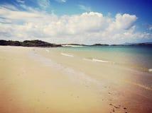 Praia escocesa fotografia de stock