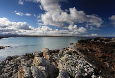 Praia escocesa das montanhas Fotografia de Stock