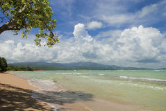 Praia escondida de Puerto Rico Imagens de Stock Royalty Free