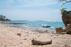 Praia escondida Santa Teresa imagem de stock royalty free