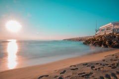 Praia espanhola bonita imagem de stock royalty free