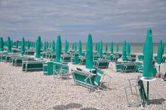 A praia está esperando Itália Fotografia de Stock