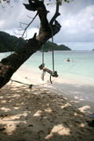 Praia exótica Imagem de Stock Royalty Free