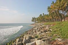 Praia exótica em Varkala. imagem de stock royalty free