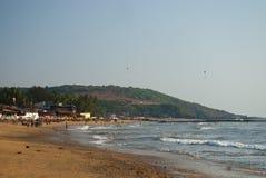 Praia famosa de Kovalam Kerala, India imagem de stock royalty free