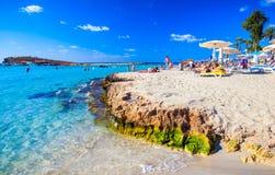Praia famosa de Nissi Fotos de Stock Royalty Free
