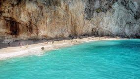 Praia famosa de Porto Katsiki, Lefkada, Grécia Imagens de Stock Royalty Free