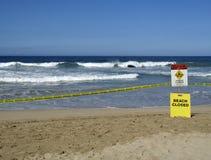 Praia fechada imagem de stock