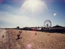 Praia Ferris Wheel imagem de stock