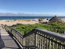 Praia Florida do Fort Lauderdale Trajeto da plataforma à praia Imagens de Stock Royalty Free