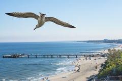 Praia FO Kolobrzeg, mar Báltico, Polônia Imagem de Stock Royalty Free