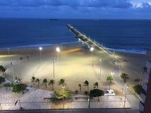 Praia Fortaleza Brasil de Iracema imagens de stock royalty free