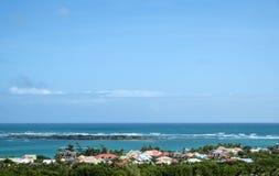 Praia Front Houses Foto de Stock Royalty Free
