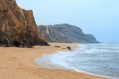 Praia gör Guincho Santa Cruz, Portugal Royaltyfria Foton