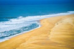 Praia gör Norte, Nazare Portugal Arkivbilder