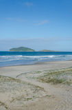Praia gör Santinho, Florianopolis Royaltyfri Foto