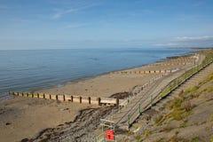 Praia Gales Reino Unido de Criccieth Imagem de Stock Royalty Free