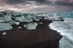 Praia glacial Imagem de Stock Royalty Free