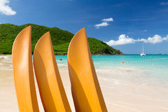 Praia gloriosa em Anse Marcel em St Martin Imagem de Stock