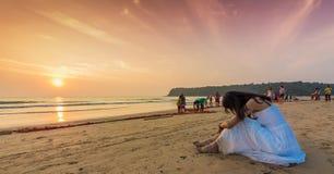 Praia Goa sul de Agonda, Índia Fotografia de Stock Royalty Free