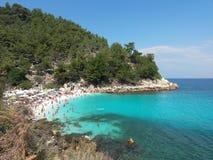 Praia Grécia de Saliara Imagens de Stock Royalty Free