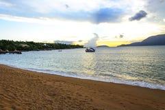 Praia Grande beach. On Ilha Bela - Brasil. An nice place for relax Stock Photos