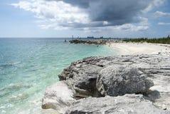 Praia grande da ilha de Bahama Foto de Stock