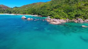 Praia grande de Anse, Seychelles video estoque