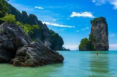 Praia grande de Centara, Ao Nang Fotografia de Stock